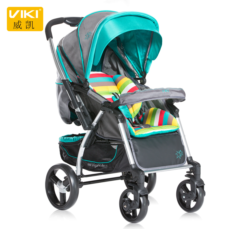 VIKI/Vigorkids brand new Four wheel reversible handle baby stroller shock high quality Ensure genuine hot selling