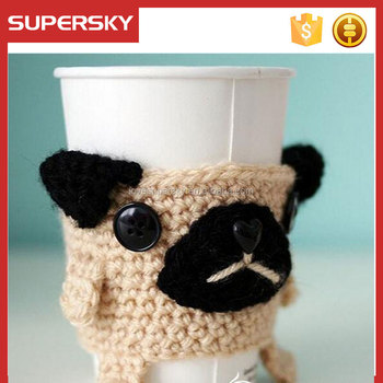 M5 Cute Coffee Cup Cozy Hot Drink Cup Cover Knitted Sleeve Buy