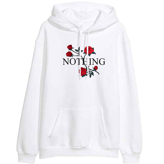 OEM Factory Made In China Solid Colors Cheap Fleece Warm Pullover Sweatshirts With Hood Custom Printed Rose Women XXXXL Jumper H