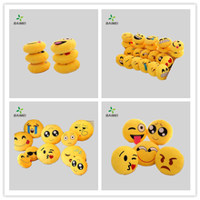 Good Quality Custom round Whatsapp Expression Plush Soft PP Cotton small Emoji Pillow cover/Octopus Plush Toy