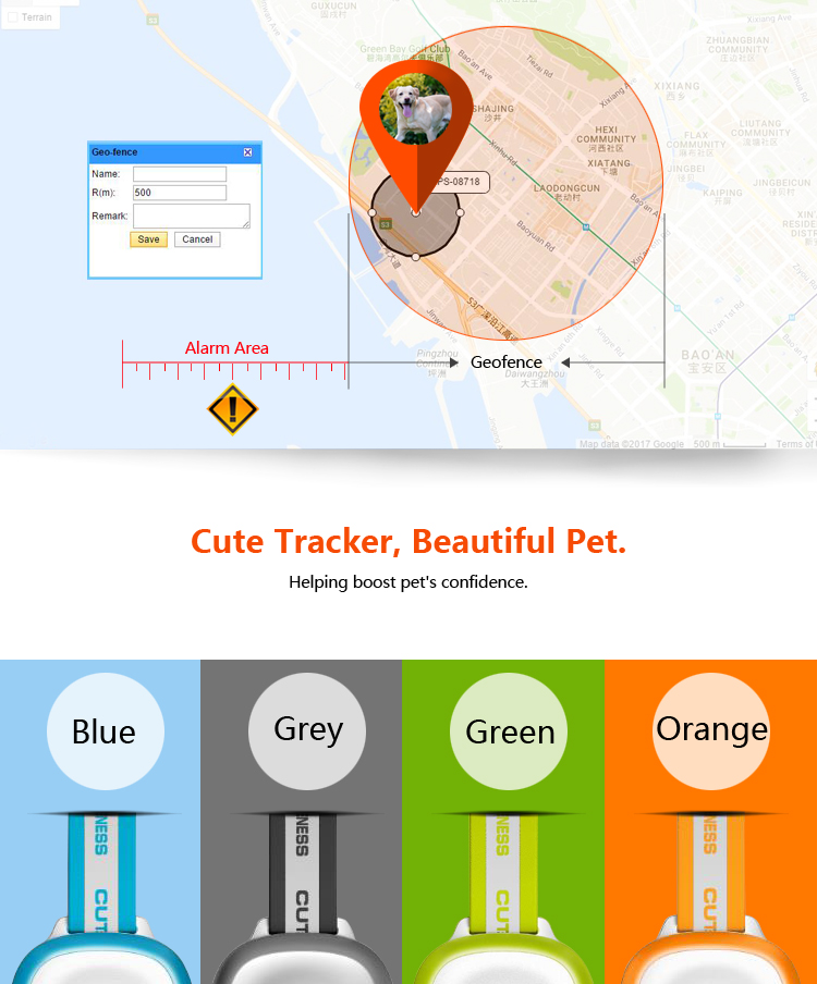 Cheap GPS Pet Tracker Collar  Mini Size For Dog Cat