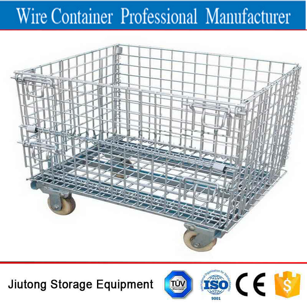 Wire Pallet Cage With Wheels, Wire Pallet Cage With Wheels Suppliers ...