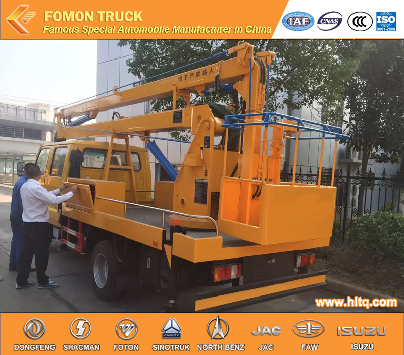 Japan technology euro4 100P 12m high altitude operation truck/folding boom high-altitude working truck