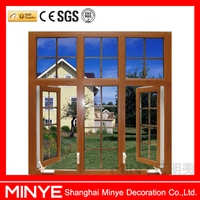 wood color vinyl upvc window/pvc casement windows with bars