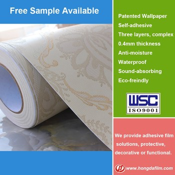 High Quality Self Adhesive Fabric Backed Vinyl Wallpaper