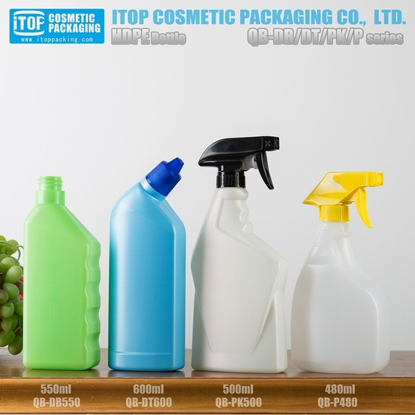 hot selling 500ml toilet cleaner bottle 550ml hand wash bottles trigger sprayer 480ml plastic bottle 500ml with spray trigger