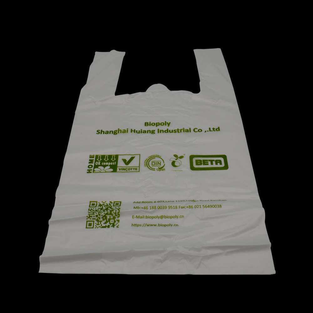 Eco-Friendly PLA biodegradable plastic Shopping bags