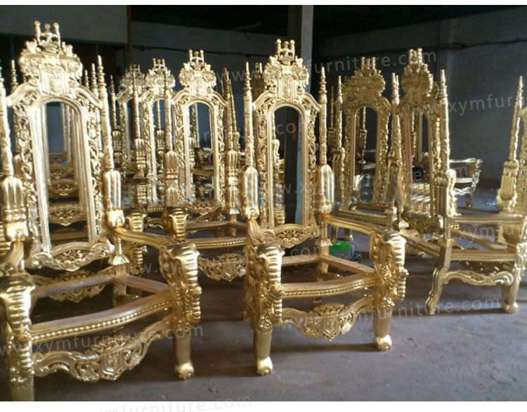 Antique hot selling golden king throne chairs - Antique Hot Selling Golden King Throne Chairs - Buy King Throne