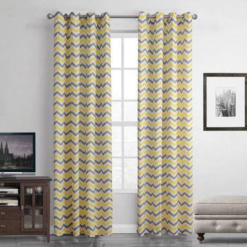 1 Teilig Gelb Gestreiften Abstrakte Blackout Vorhang Für Wohnzimmer Fenster  Vorhang Für Schlafzimmer Vorhänge Vorhänge