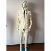 Top design francese terry <span class=keywords><strong>bianco</strong></span> custom design your own mens sottile tuta