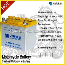 Export Black Container Black Lid motorcycle batteries