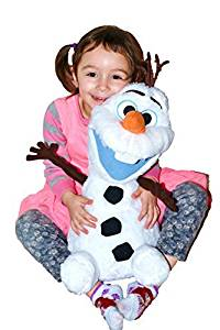 """Disney Frozen Large Fluffy/Soft Plush Olaf With Cute Open Smile. Limited Edition 22""""H (55 cm) . Japan Import."""
