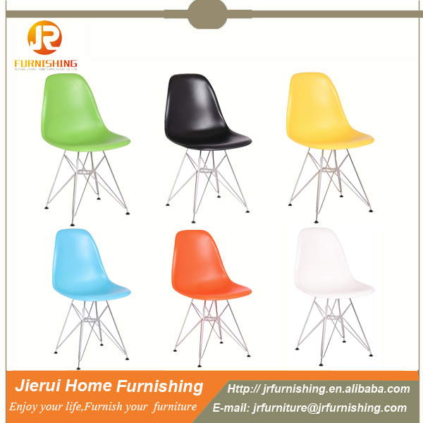 PP or ABS replica plastic leisure chair / plastic chair with chromed legs