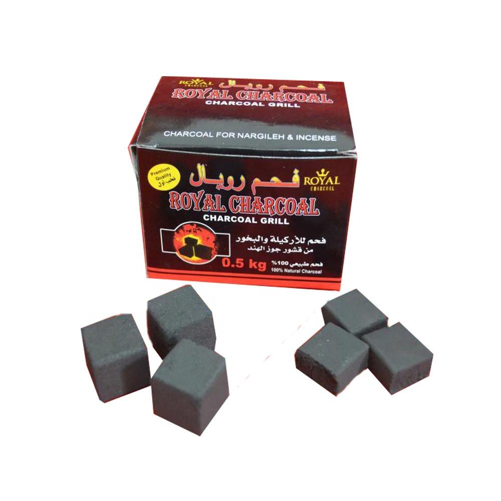 HQHC025 Hongqiang indonesia coconut shell cube charcoal for shisha