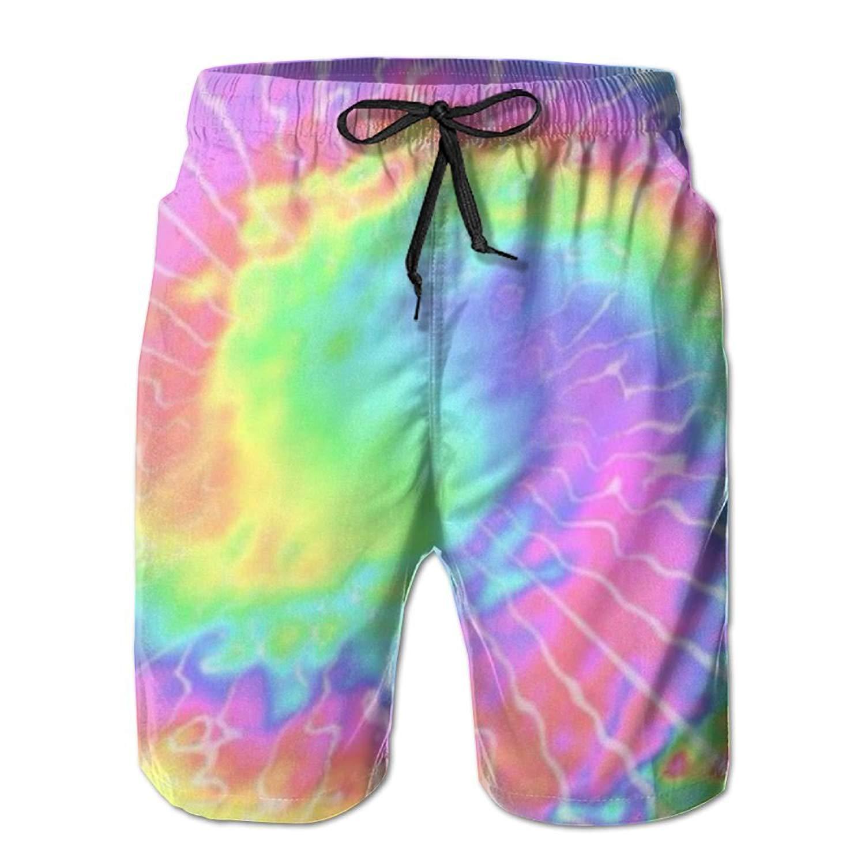 f7db0bbaa5 Get Quotations · Beachs Tie-Dye Multicolortie-Dye Stretch Mens Tropical Gym  Athletic Board Shorts