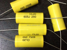 Axial Type CL20 6000NF 50V 605J Metallized Polyester Film Capacitor