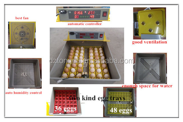 CE Approved Full Automatic Mini Egg Incubator for Haching Chicken Eggs/ Duck Eggs
