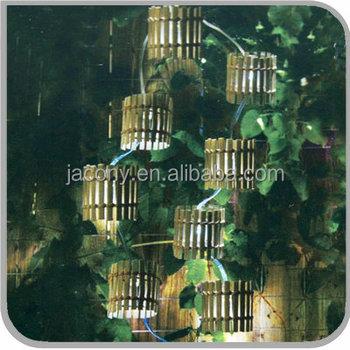 Outdoor Solar Strip Light 10 16 20led Bamboo Lantern Shape For Garden Jl