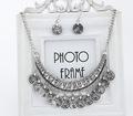2014 חמה למכירה אופנה סטי תכשיטי קריסטל שרשרת סטי תכשיטי נשים שרשרת זרוק עגילים הצהרה