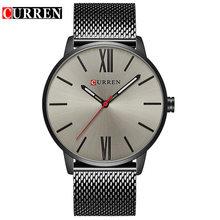 Curren Мужские часы Топ бренд класса люкс золотые кварцевые мужские часы водонепроницаемые с сетчатым ремешком повседневные спортивные часы ...(Китай)