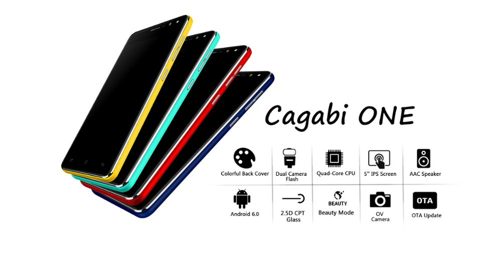 Low price china mobile phone CAGABI ONE 5.0inch 1+8GROM New 3G 4G Smart mobile phone android make your own phone