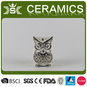 Electroplated ceramic eagle gift craft