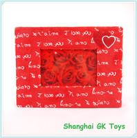 Valentine Gift Red Wedding Plush Photo Frame