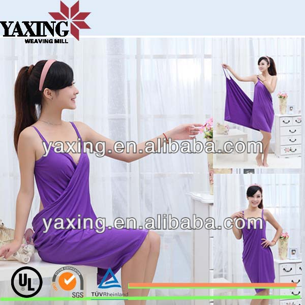 Microfiber bathrobe towel lady bath dress