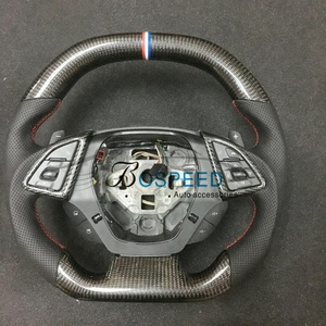 Different design Gloss Carbon fiber OEM steering wheel for Camaro