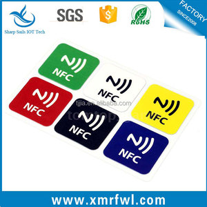Different Color PVC Coloured Cheap NFC RFID sticker Custom Print NFC Tag