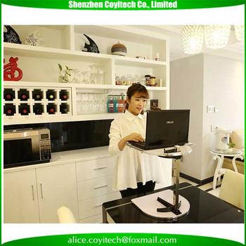 Adjustable Height Laptop Desk Table Workstation Base Stand