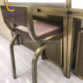 Stainless steel furniture base, metal chair backrest, furniture leg