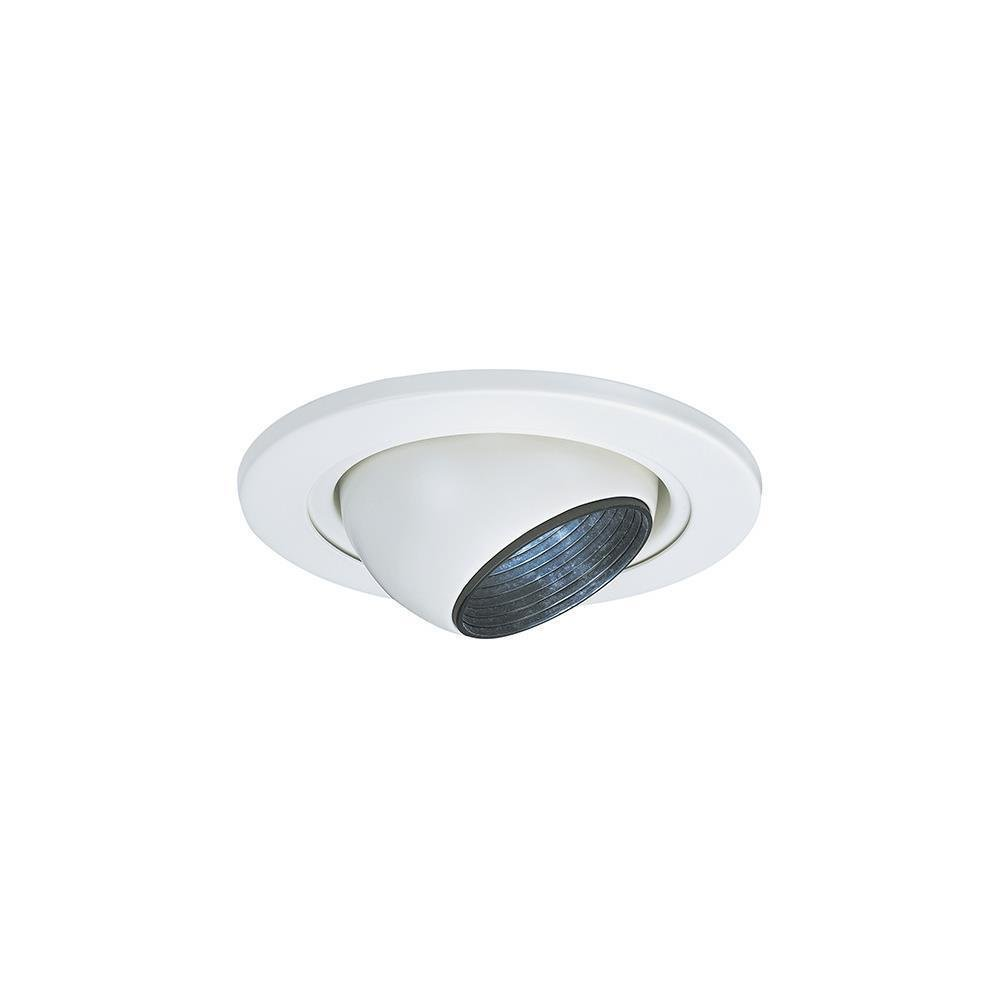 Sea Gull Lighting 1236AT-15 4-Inch Eyeball Recessed Light Fixture Trim White -MP#GH4498 349Y49HBRG9109480