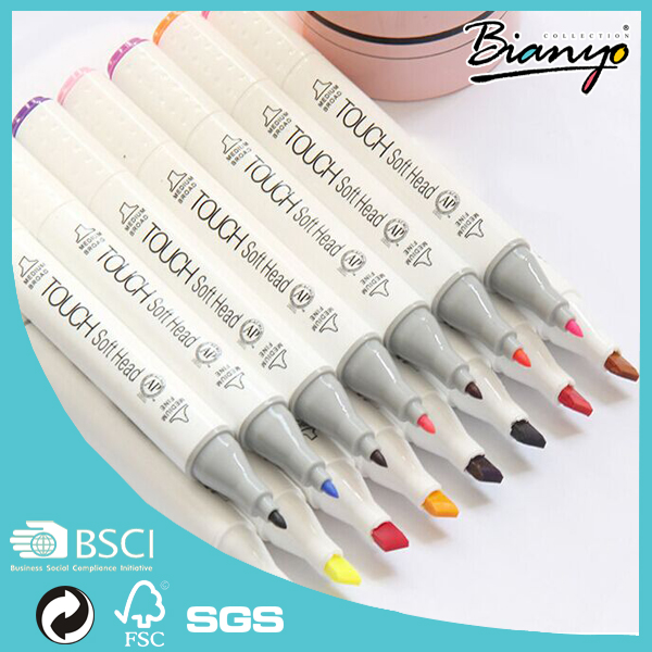 Dual tip marker pen for art/Touch brand color marker