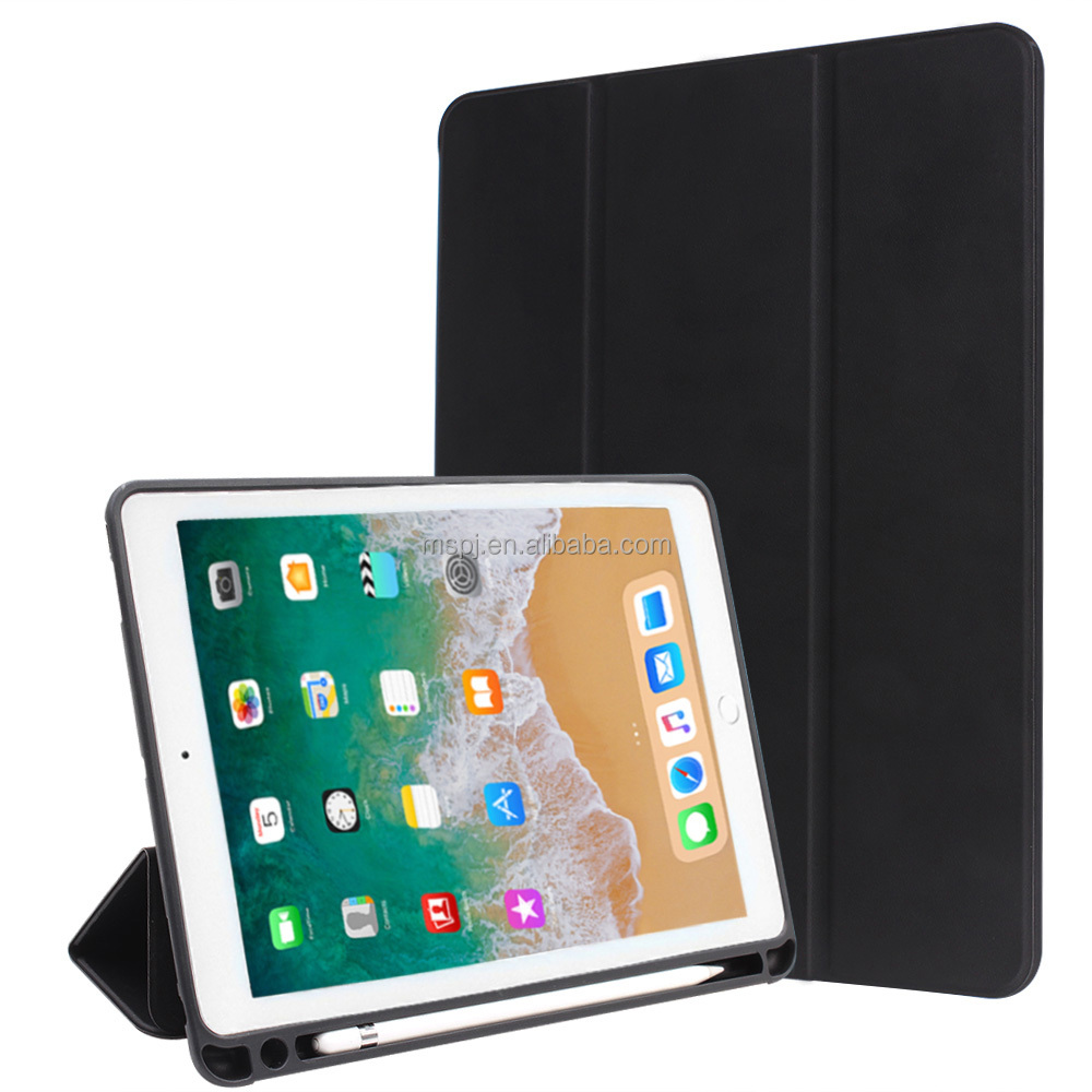 Anti-Scratch Shockproof Trifold Cover Stand PU Leather Smart Case for iPad pro 12.9 inch