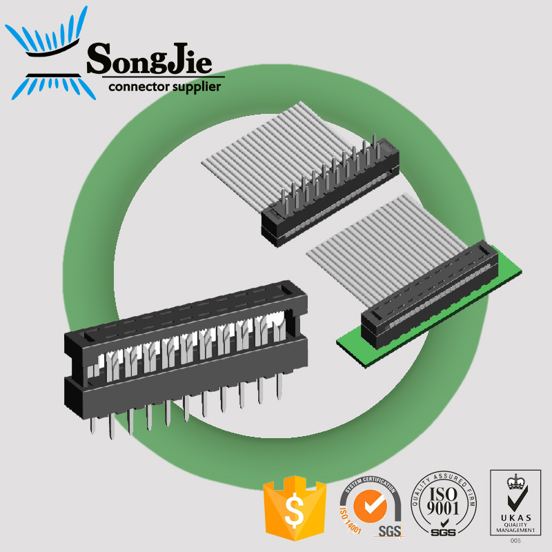 2.00mm pitch idc connector female to male flat ribbon cable, rohs ce ul iso9001