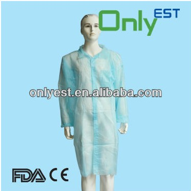 OEM design medical grade disposable protective non woven lab coats