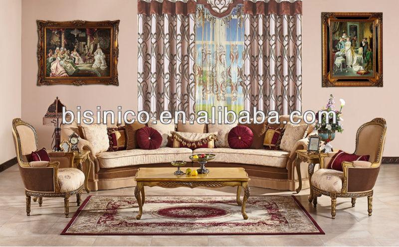 Arabia Royal Style Living Room Corner Sofa Chesterfield Fabric