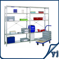 Light duty rack system home storage shelf/warehouse rack and shelf/galvanized steel adjustable shelving