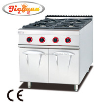 chineses paella 4 burner gas range with cabinet GH-987