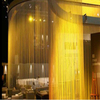 Large size metallic flame retardant ceiling thread curtain with lurex