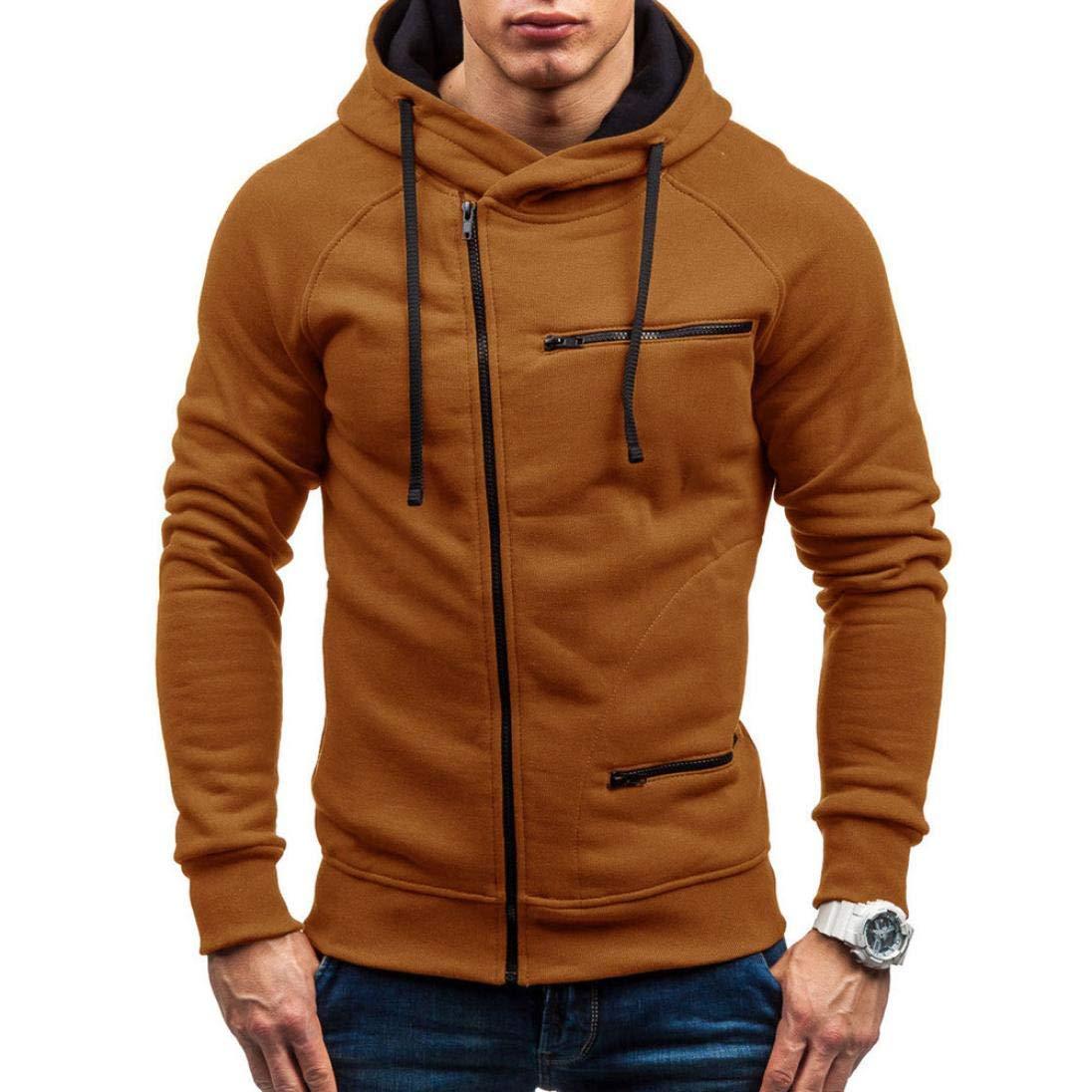 6c03346f Get Quotations · OCASHI Mens Long Sleeve Blouses, Fashion Zipper Hoodie  Hooded Sweatshirt Top Tee Outwear