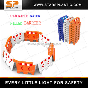 Plastic Stacks Security Maintenance / Road Safety Construction Water Barrier SWB-A27-1