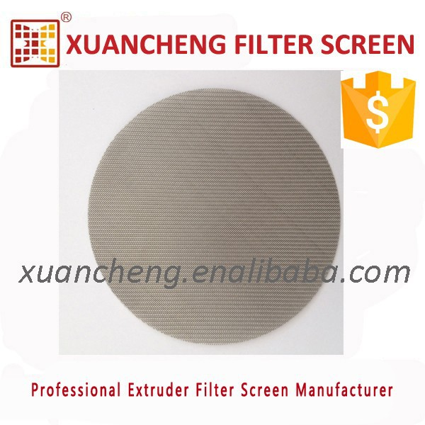 12/64 MESH(250micron) stainless steel filter screen mesh for plastic extruder