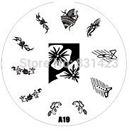 2015 new A Series A19 Nail Art Polish DIY Stamping Plates Image Templates Nail Stamp Stencil