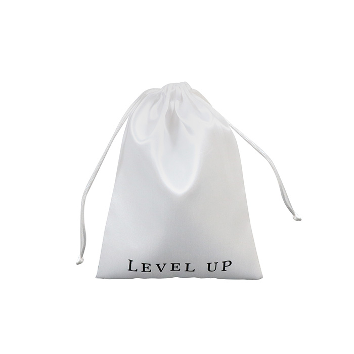 Custom Silk Satin Bags With Logo Drawstring Pouches Jewelry Cosmetic Bags