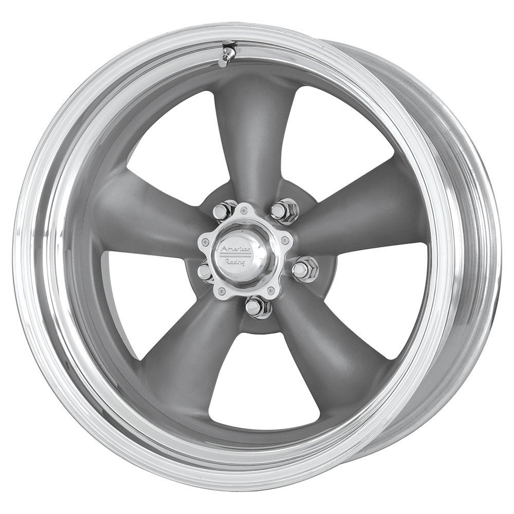 17 Inch 17x8 American Racing wheels wheels CLASSIC TORQ THRUST II Mag Gray Center Polished BARREL wheels rims