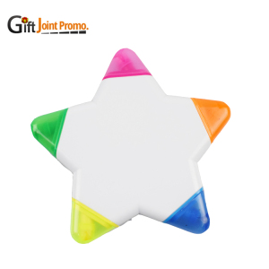 5 in 1 Star Shaped Highlighter Marker, Customized Highlighter Pen