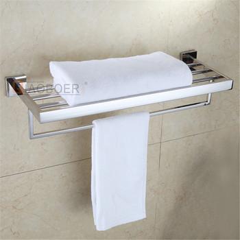 Contemporary Chrome Wall Mounted Hotel Standing Towel Shelf Towel ...