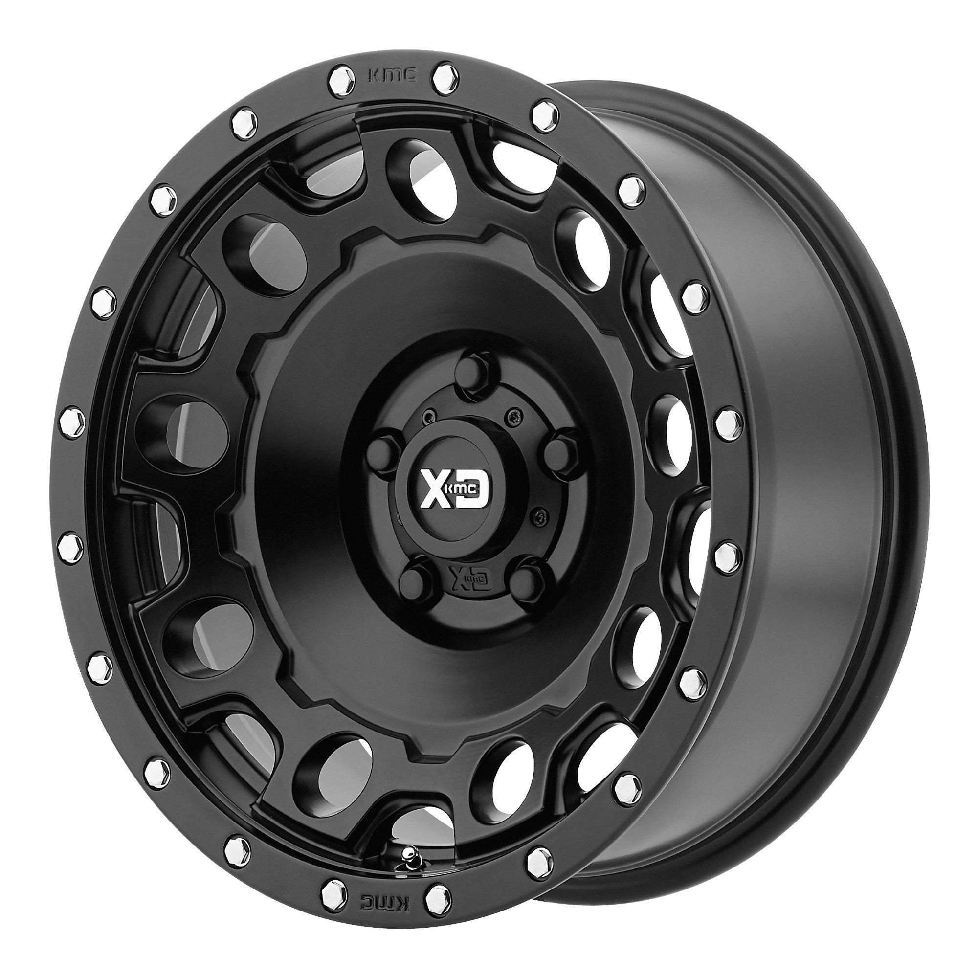XD SERIES BY KMC WHEELS HOLESHOT SATIN BLACK HOLESHOT 18x9 6x139.70 SATIN BLACK (18 mm)